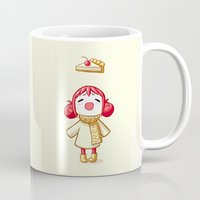 pie Mugs featuring Cherry Pie by Freeminds