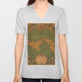 Historical Map of Panama Unisex V-Neck