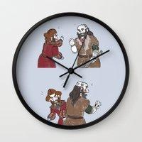 nori Wall Clocks featuring High Slap  by BlueSparkle
