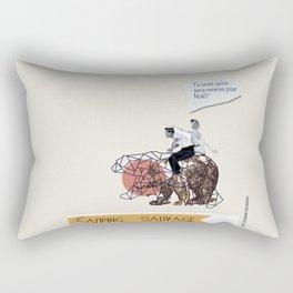 Camping Sauvage Rectangular Pillow