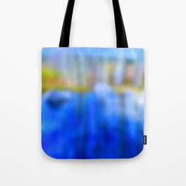 Reflections in blue and gold Tote Bag