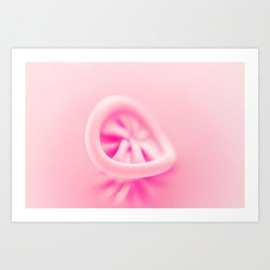 Pastel Pink Balloon Art Print