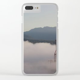 Burrard Inlet Fog Clear iPhone Case