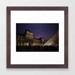 Night at The Louvre Framed Art Print