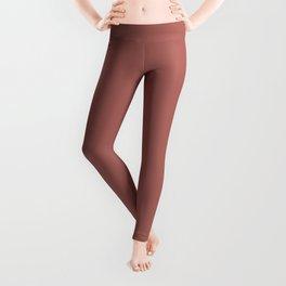 Marsala Color Matte 2015 Leggings
