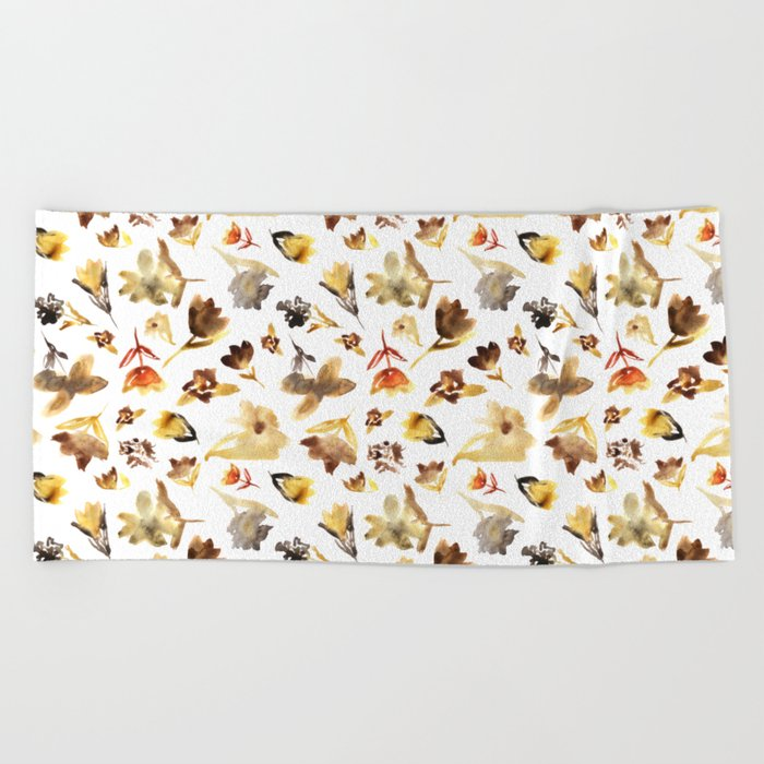 The beauty of dry flowers #2 Beach Towel