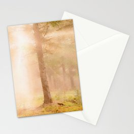 Scottish forest watercolor painting #3 Stationery Cards