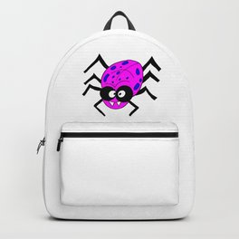 Drawing cartoon of a funny looking spider Backpack