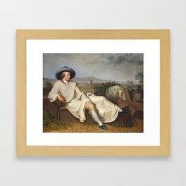 Goethe in the Roman Campagna, by Johann Heinrich Wilhelm Tischbein Framed Art Print