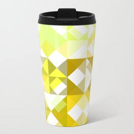 Pale Yellow Poinsettia 1 Abstract Triangles 1 Travel Mug