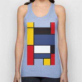 Mondrian 3 Unisex Tank Top