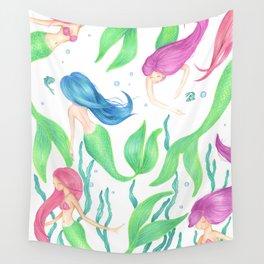 Mermaid Girl Gang Wall Tapestry