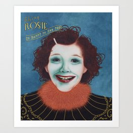 Shiny Rosie Art Print
