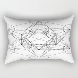 Sacred Geometry : Metatron's Cube / The Map of Creation Rectangular Pillow