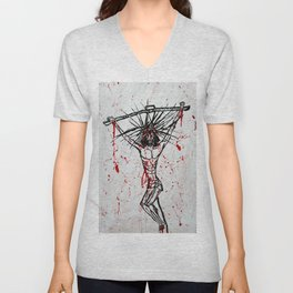 Stain on Humanity's Conscience Unisex V-Neck