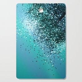 Aqua Blue OCEAN Glitter #1 #shiny #decor #art #society6 Cutting Board