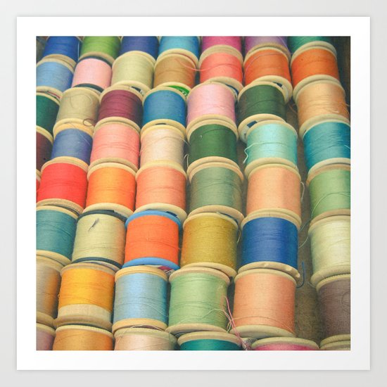 Sew a Rainbow Art Print