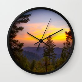 Chalk Bluff Sunset Wall Clock