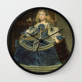 Velazquez - Infanta Margarita Teresa In A Blue Dress Wall Clock