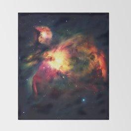 Orion NEbula Dark & Colorful : Hauntingly Beautiful Series Throw Blanket
