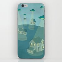 ufo iPhone & iPod Skins featuring UFO by Banessa Millet