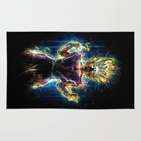 dbz Area & Throw Rugs featuring Emotional Fighter Level 2 by Barrett Biggers