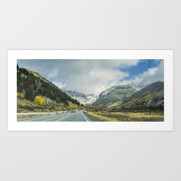 Canyon Into Telluride Art Print
