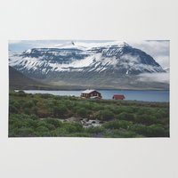 iceland Area & Throw Rugs featuring Iceland by Atticus Radley