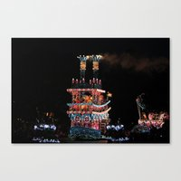 donald duck Canvas Prints featuring Donald Duck and Friends! by Kieren Wulf