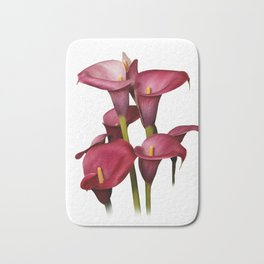 Purple Calla Lilies Bath Mat