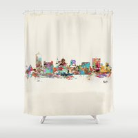 memphis Shower Curtains featuring memphis tennessee by bri.buckley