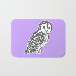 Grey Barn Owl Art Bath Mat
