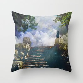 Moon Stairs Throw Pillow