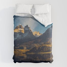 Gray Lake 4k Torres del Paine mountains Patagonia Chile Comforters
