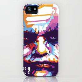 Heath Ledger print,Heath Ledger poster,Heath Ledger INSPIRED print, The Joker decor, The Joker, Pop iPhone Case