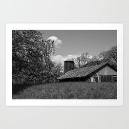 B&W Barn Art Print