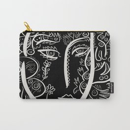 Portrait Black and White Street Art  Carry-All Pouch