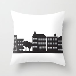 Park Slope Skyline (B&W) Throw Pillow