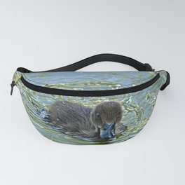 Little Black Duckling Swimming Fanny Pack