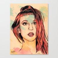 hayley williams Canvas Prints featuring Hayley Williams by Adora Chloe