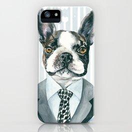 Boston Terrier Dressed for Dinner iPhone Case