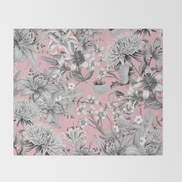 FLORAL GARDEN 7 Throw Blanket