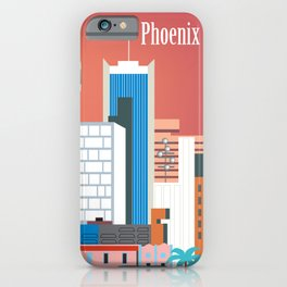 Phoenix, Arizona - Skyline Illustration by Loose Petals iPhone Case