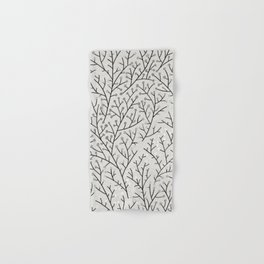 Berry Branches – Silver & Black Hand & Bath Towel