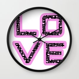 [Glittered Outline Effect Variant] Love's Simply Stylish Wall Clock