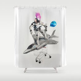 Abjectified: Skunk Works Shower Curtain