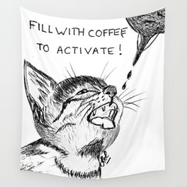 Fill with coffee to activate Wall Tapestry