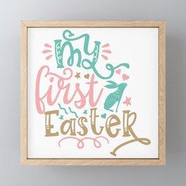 My First Easter Framed Mini Art Print