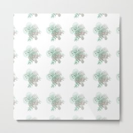 Botanical Pattern Metal Print