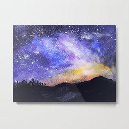 Starry Galaxy Metal Print